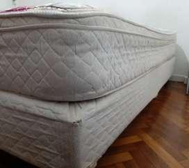 Sommier +colchón (con resorte) 2 plazas - 140x90x45 -