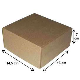 10 Cajas De Cartón De 14.5 X 13 X 7 Cm Alto.