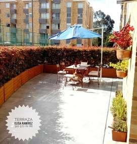 Apto chia ,93 mt+39 de terraza,3 habitaciones,2 baños,estudio,cocina abierta ,club house,2 parqueaderos