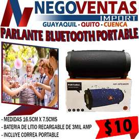 PARLANTE BLUETOOTH PORTABLE EXCLUSIVAMENTE EN DESCUENTO SOLO EN NEGOVENTAS