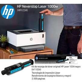 Impresora Hp Neverstop 1000w Con Wifi Toner Recragable 3197
