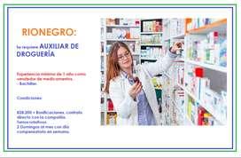 Auxiliar de droguería - Vendedor de droguería RIONEGRO