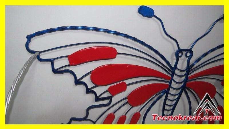 Silla mariposa artesanal en hierro forjado adorno diseño casa finca 0