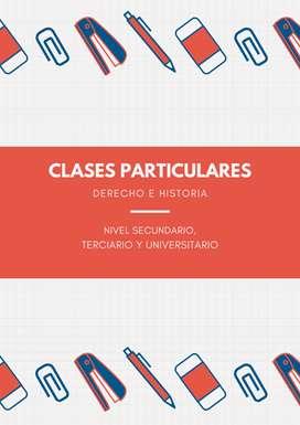 Clases Particulares de Derecho e Historia