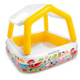 Piscina inflable Intex con sombra, 62 x 62 x 48, pulgadas