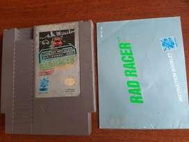 Rad racer con manual para Nintendo Nes