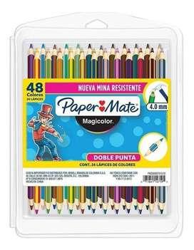 SUPER PROMO Colores Magicolor Doble Punta X 24 Lapices 48 Colores