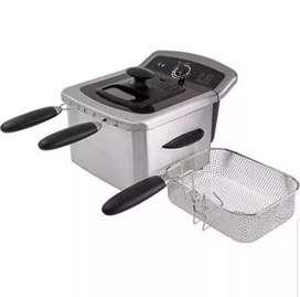 Freidora doble 4 L farberware acero inoxidable con dos cestas