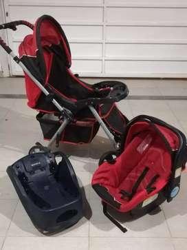 Vendo coche infantil con huevito y base para el auto.