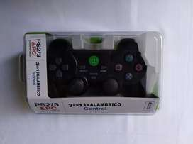 Joystick inalambrico 3 en 1 para PC, Ps 2 y Ps 3, a pilas
