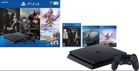 Consola PS4 Slim 1TB + 1 Control + 3 juegos Super Oferta