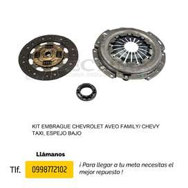 KIT EMBRAGUE CHEVROLET AVEO, FAMILY, CHEVY TAXI