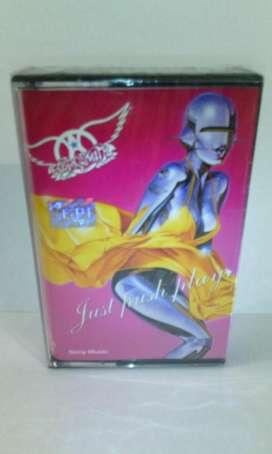 Cassette Aerosmith Just Push Play Nuevo sellado