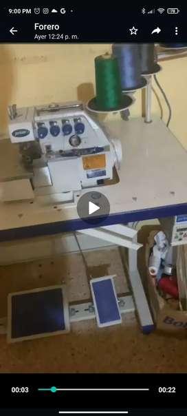 Máquina overlok 5 hilos