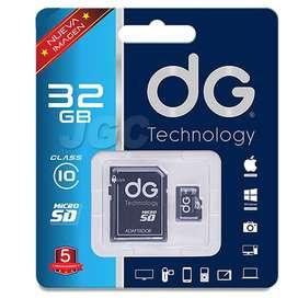 Memoria Micro SD Marca DG 32GB Alta Velocidad