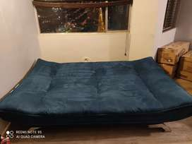 sofacama azul