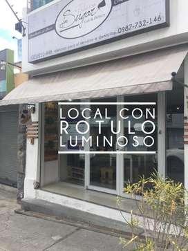 AMPLIO LOCAL A LA CALLE / UN PARQUEADERO / ALARMA / LETRERO