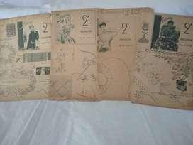 Gran manual Labores 1952 (2+3)Varios Dibujos molde+Punto Cruz +Bordado