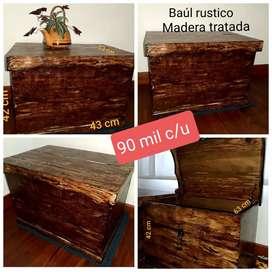 Venta Baules en madera estilo rústico