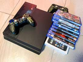 Play Station 4 (PS4)+Cooler+2Mandos+2Juegos