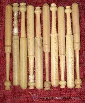 Bolillos españoles para encaje originales