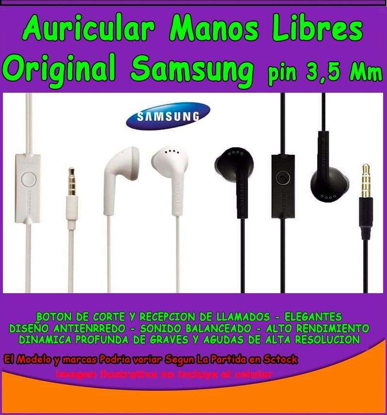 Auriculares Manos Libres 3.5 Mm Samsung Galaxy Auriculares 0