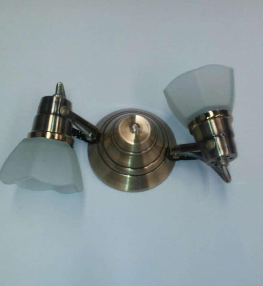 spot de 2 luces Vidrio para ventilador de techo BRONCE 0