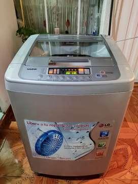 Lavadora LG Turbo Drum 12 Kg glass Drum