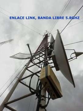 ENLACE, LINK, 5.8GHZ, MAYOR 10 KM. VIDEO Y AUDIO ESTEREO ,PARA TV Y ESTACIONES RADIO