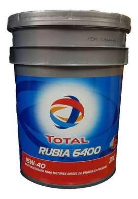 Aceite Total Rubia 6400 X 20litros Balde Camion Pesado!!