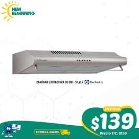 Campana Extractora Electrolux 90cm Silver + ENTREGA GRATIS