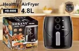 Freidora 4.8 Litros Alimentos Crujiente Sin Aceite Air Fryer