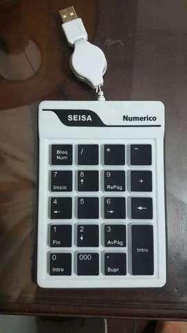 Teclado numérico para notebook