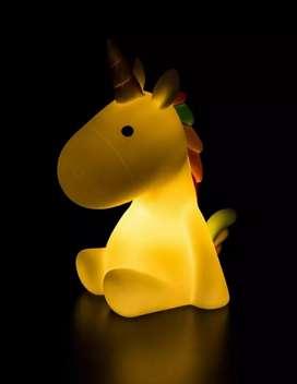 Velador tierno LED Unicornio para la noche