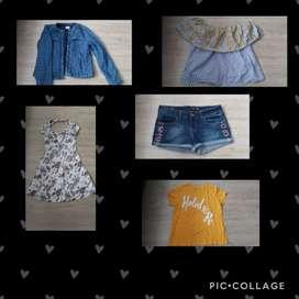 Chaqueta, short, vestido, camiseta, blusa