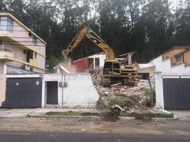 Alquiler de MiniExcavadora, Excavadora, Movimientos de Tierra, Derrocamiento de Casas, Desbanques, Excavaciones