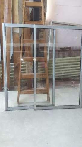 Vendo ventana usada de aluminio