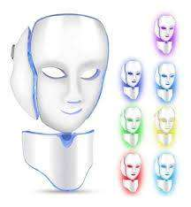 Mascara + Cuello Fototerapia Facial Led 7 Colores Rejuvenece