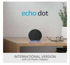 Nuevo Echo dot amazon Alexa 4ta generacion, version internacional con comandos 100% adapatos a español entrega inmediata
