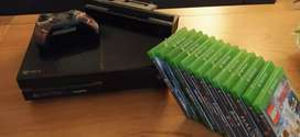 xbox one + 13 juegos + Kinect + auriculares + joistick