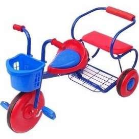 Triciclo Bambino 2 Puestos Para Niño Metalico Infantil