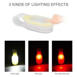 Luz led iman emergencia rojo blanco caucho luz bicicleta