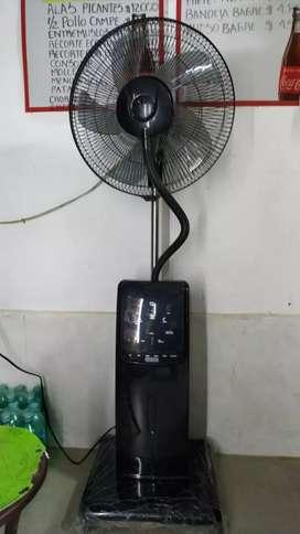 Ventilador evaporador de agua a control remoto