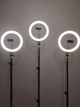 Aro de luz grande 26 Cm 3 tonos de luz con Tripod