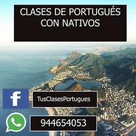 CLASES DE PORTUGUÉS NATIVOS VIRTUAL