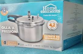 Olla a presion home elements 4.2 litros