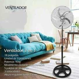 Ventilador 3en1 Pedestal Aire