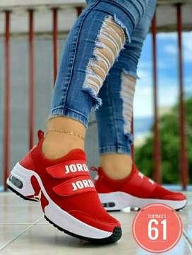 Zapato Tennis Deportivo Bota Botin Jordan Para mujer