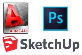 Clases de Autocad 2D, 3D, SketChup y Photoshop