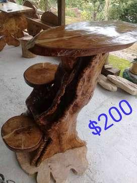 Muebles con maderas rusticas